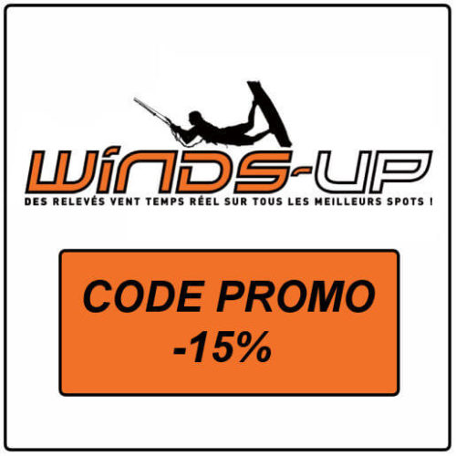 code promo winds up spots universkite réduction abonnement carte des vent en temps réel balise et webcam